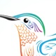 Colorful Hummingbird - GraphicRiver Item for Sale