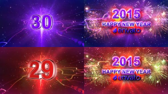 New year countdown 2015