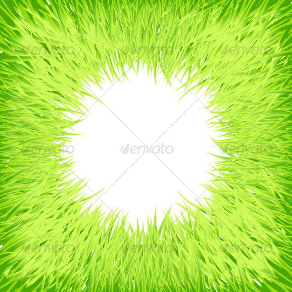 Grass round frame - Backgrounds Decorative