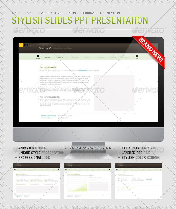 GraphicRiver Stylish Prowerpoint Slides 123592