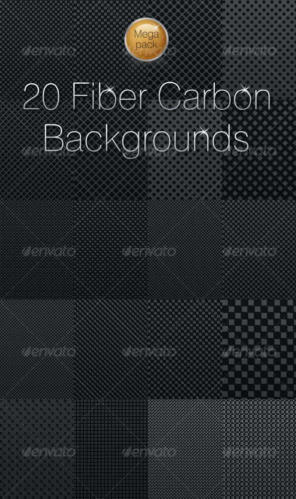 GraphicRiver 20 Fiber Carbon backgrounds 123795