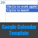 Google Calendar Template - CodeCanyon Item for Sale
