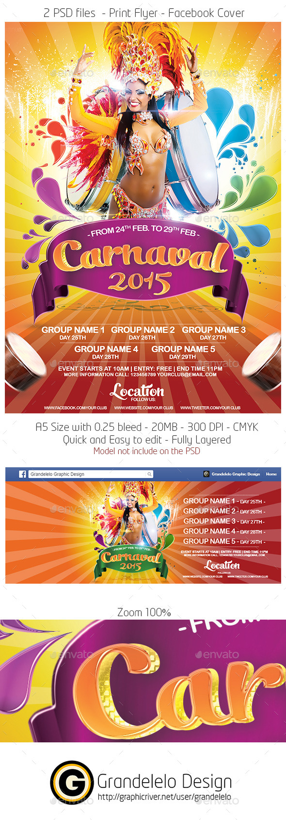 free carnival flyer template word .