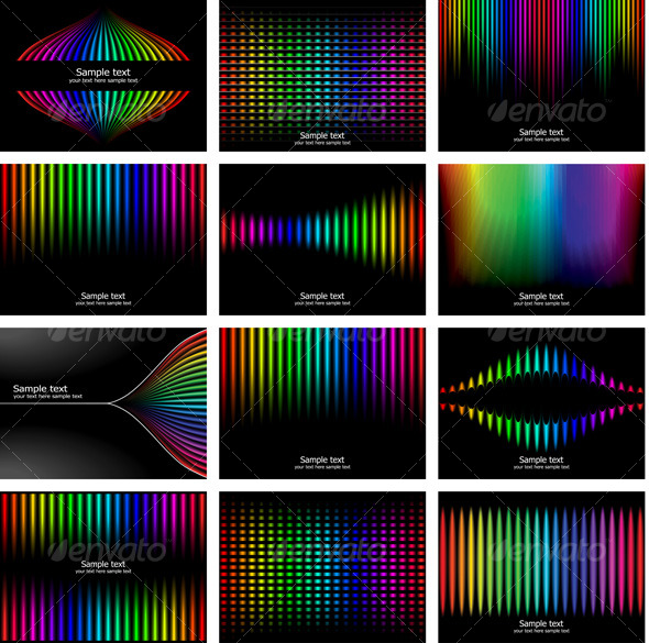 Abstract rainbow bark colour background collection - Backgrounds Decorative