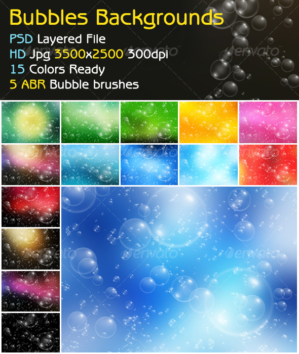Bubbles Background + ABR brush - Backgrounds Graphics