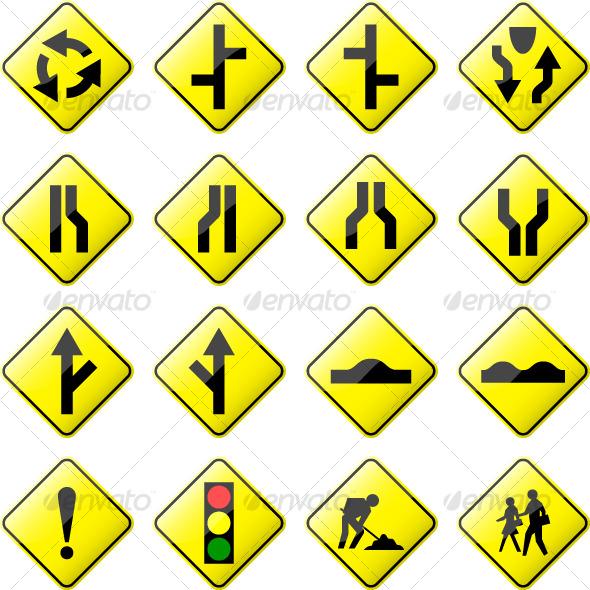 Road Signs And Symbols Symbols of Road Clipart