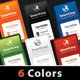 SmartCorp 6 Corporate Business Card Templates - GraphicRiver Item for Sale