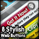 Stylish Web 2.0 Style Buttons 01 - GraphicRiver Item for Sale