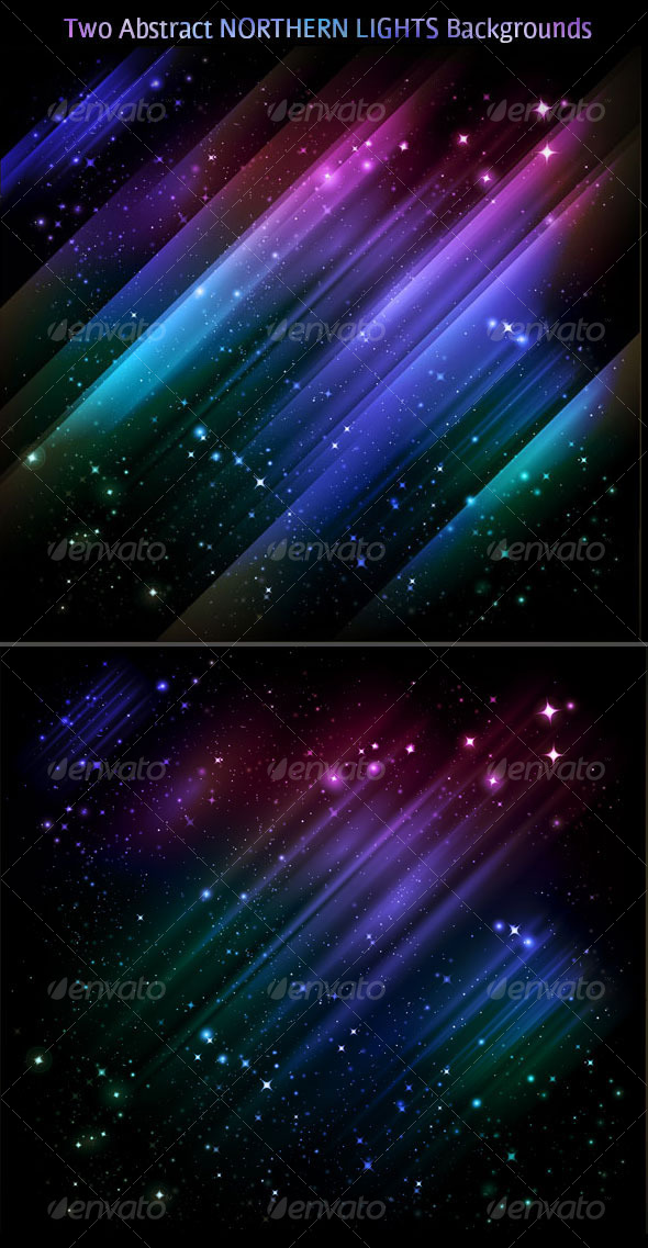 Abstract backgrounds - vector Northern lights - Backgrounds Decorative