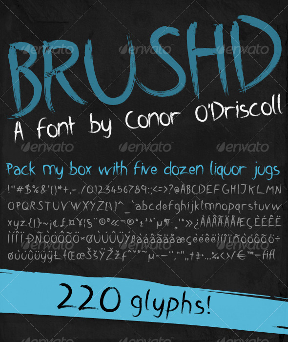 Brushd Font - Calligraphy Script