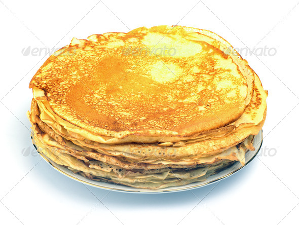 Stack of Russian pancakes - Stock Photo - Images