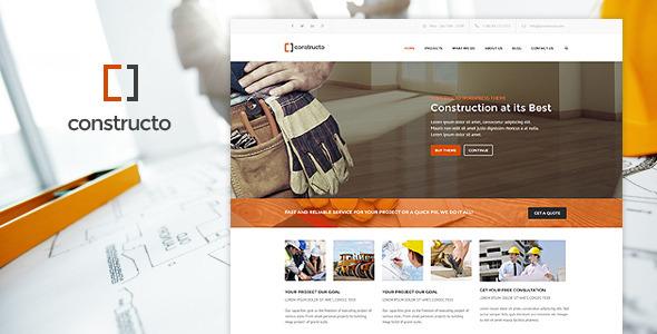 Constructo Wp Construction Business Theme Wordpress