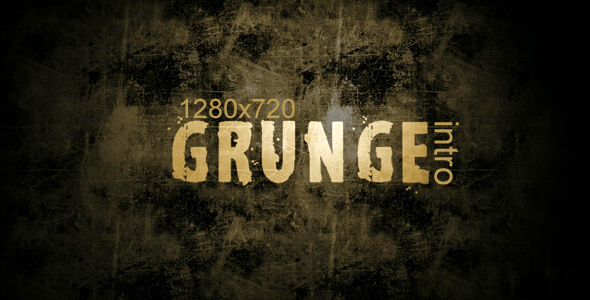 After Effects Project - VideoHive grunge intro 123230