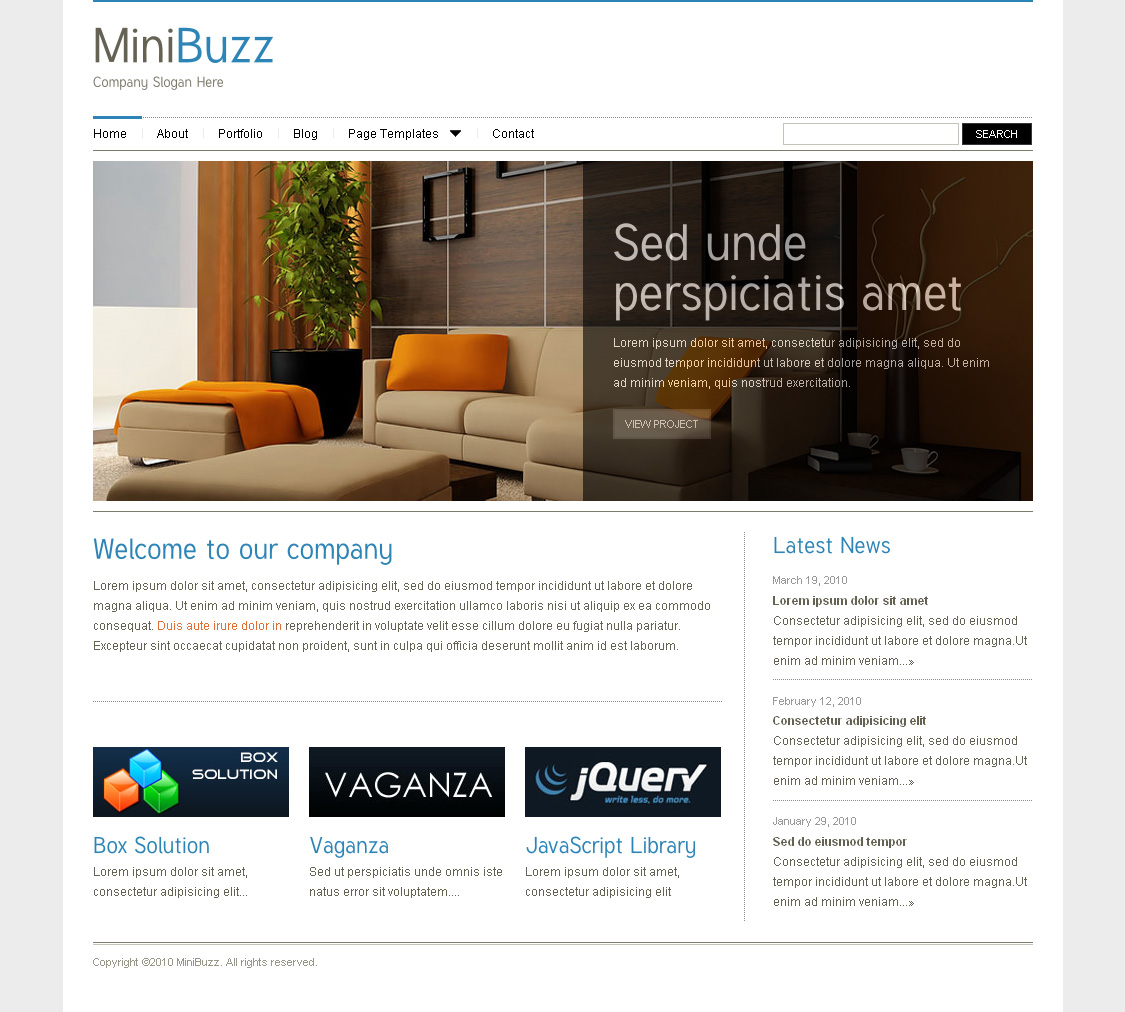 MiniBuzz - Minimalist Business WordPress Theme