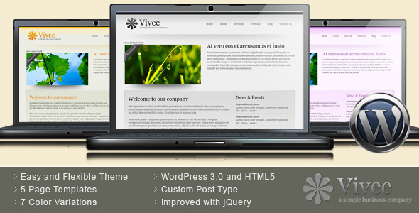 Vivee - Clean Business WordPress Theme - 7 Color
