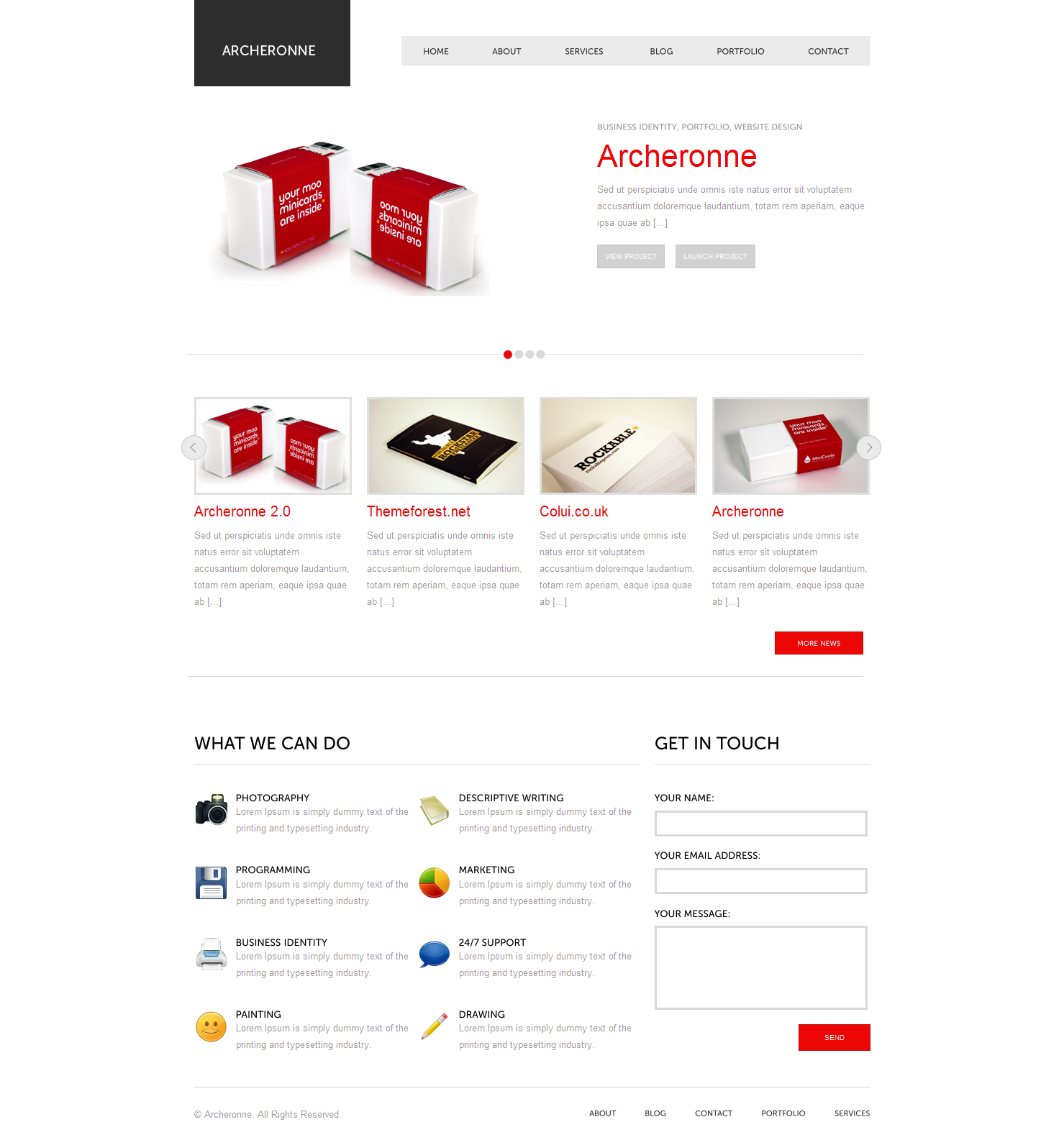 Archeronne Wordpress Theme