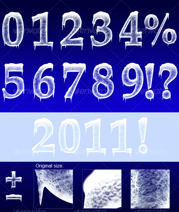 GraphicRiver Ice Numbers 124156