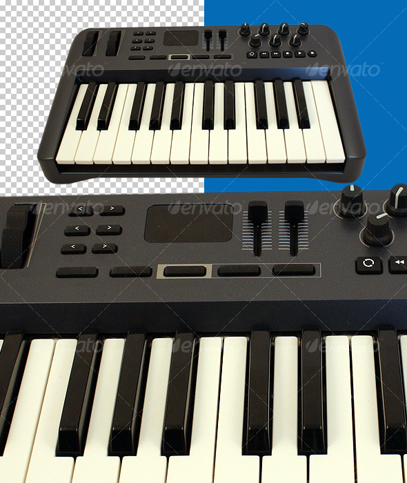 MIDI Keyboard Controller - Technology Isolated Objects