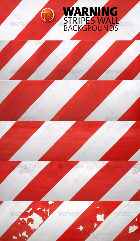 Warning Stripes Wall  Backgrounds Pack - Urban Backgrounds