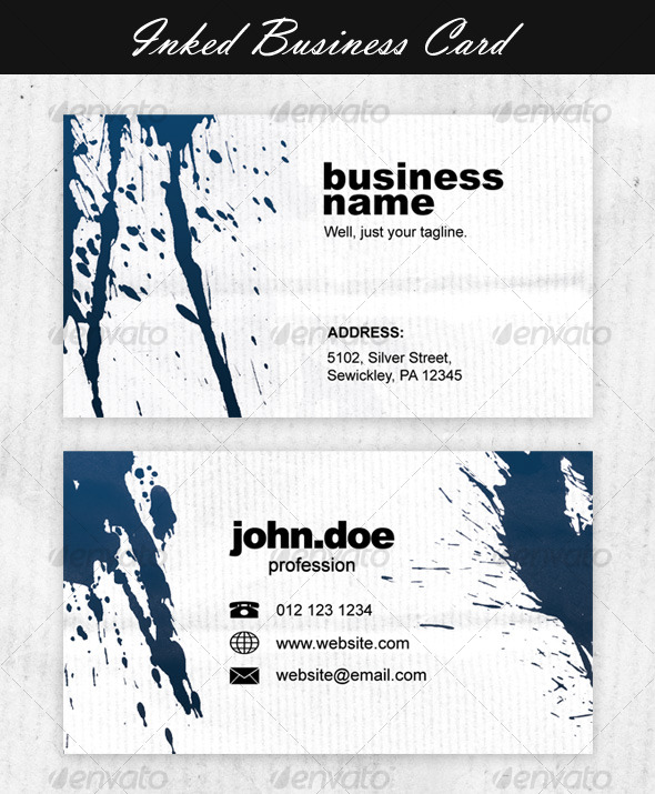 Inked Business Card - Grunge Business Cards