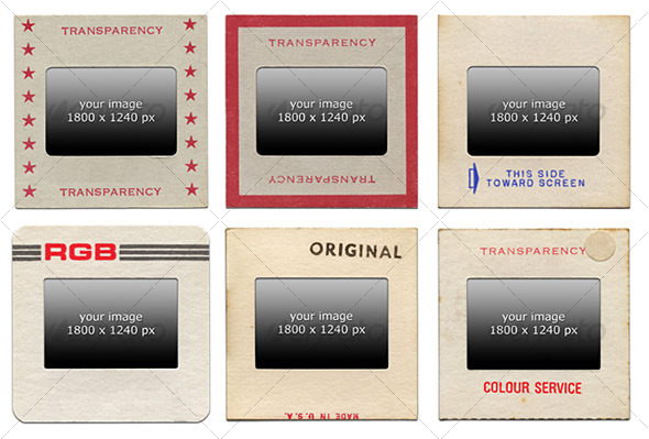 Retro 35mm Slides - Miscellaneous Photo Templates