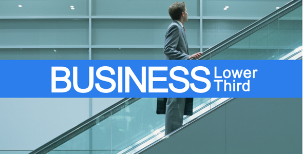 After Effects Project - VideoHive Business Lower Third 125614