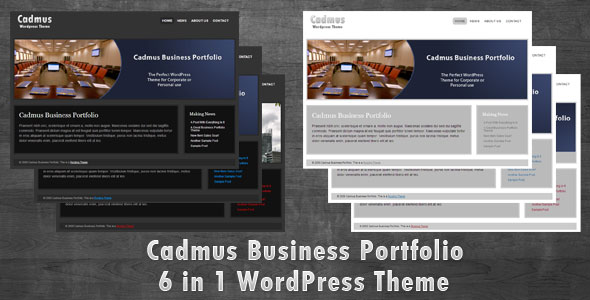 Cadmus Business Portfolio - 6 in 1 WordPress Theme - The Cadmus Business Portfolio Theme. Perfect for corporate sites and Portfolios.