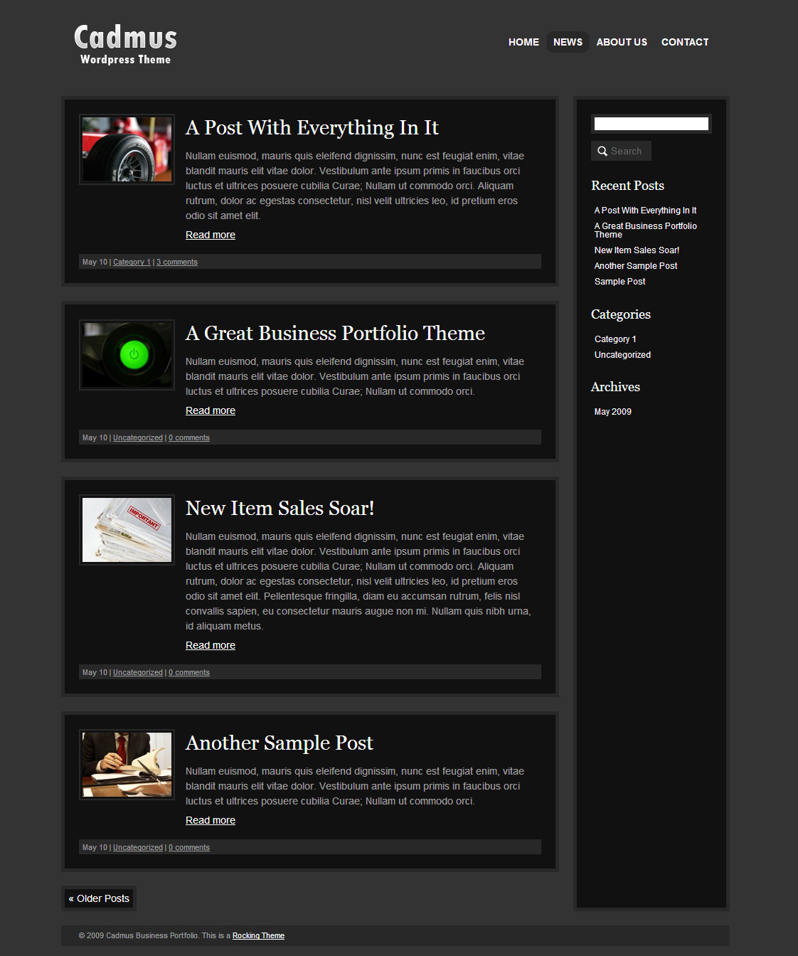 Cadmus Business Portfolio - 6 in 1 WordPress Theme - Cadmus Business Portfolio News / Blog Page