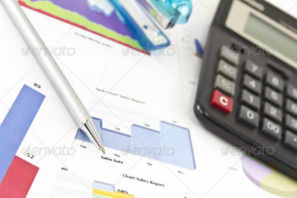 Financial Charts and Graphs - Stock Photo - Images