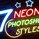 Neon Photoshop Styles-Graphicriver中文最全的素材分享平台