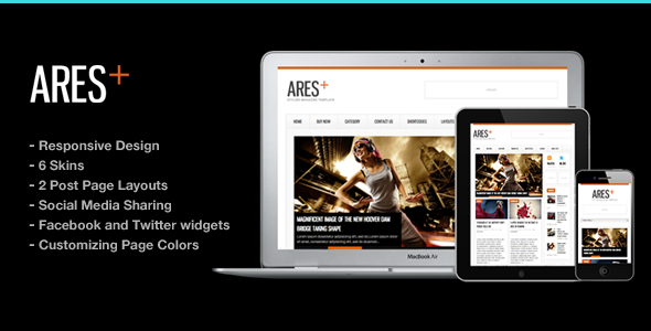 Ares 2.4 - Blog Magazine Newspaper Template