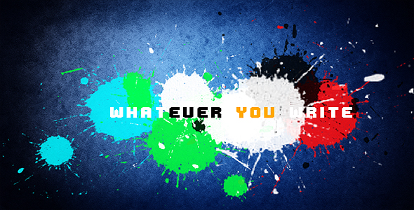 After Effects Project - VideoHive Paint Splatter Opening 126524