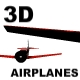 3D AIR PLANES FLY BY - [VECTOR.ANIMATION] - ActiveDen Item for Sale