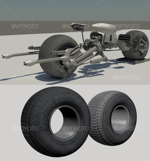 3DOcean Batpod 3D Model & Shaders 126049
