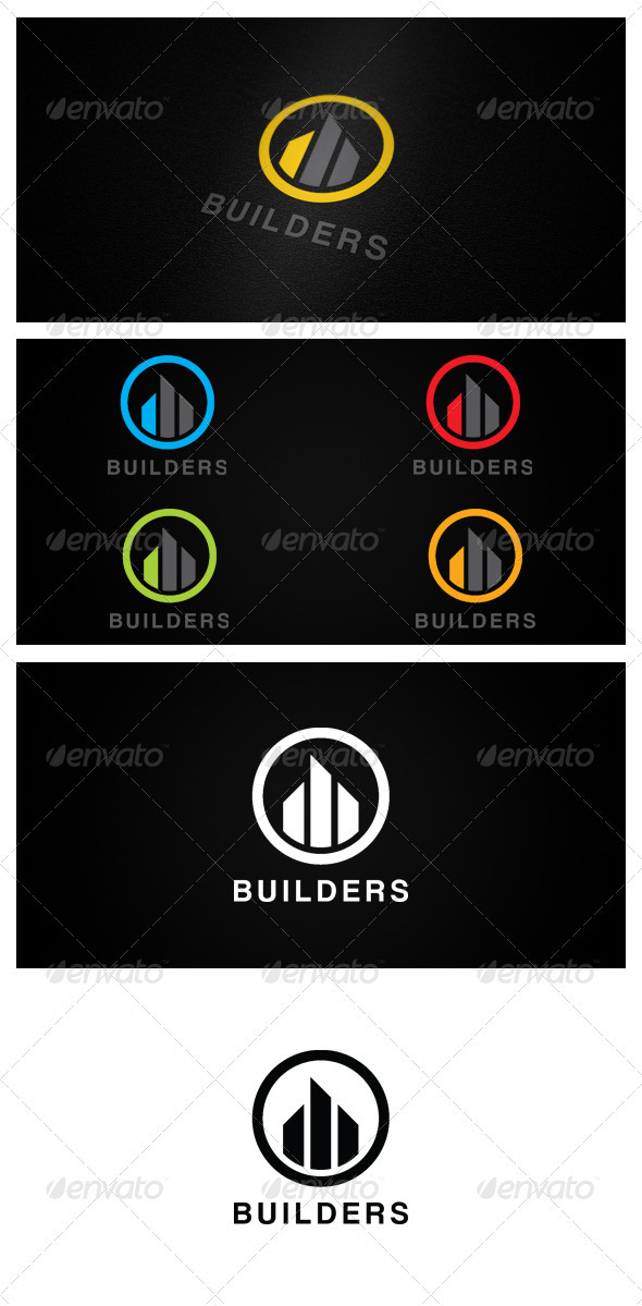 BUILDERS - Buildings Logo Templates