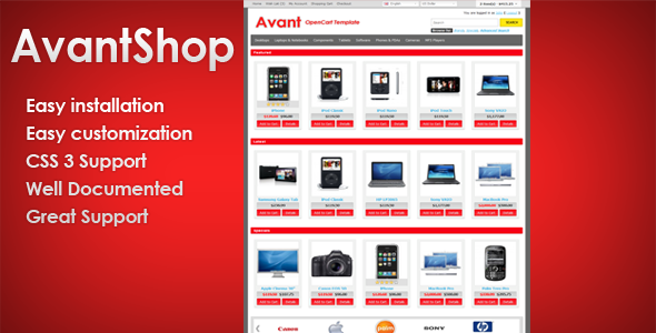 ThemeForest AvantShop Premium OpenCart Template eCommerce OpenCart 978101
