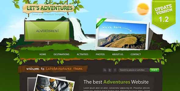 ThemeForest Let s Adventures 4 Page Photoshop design 102695