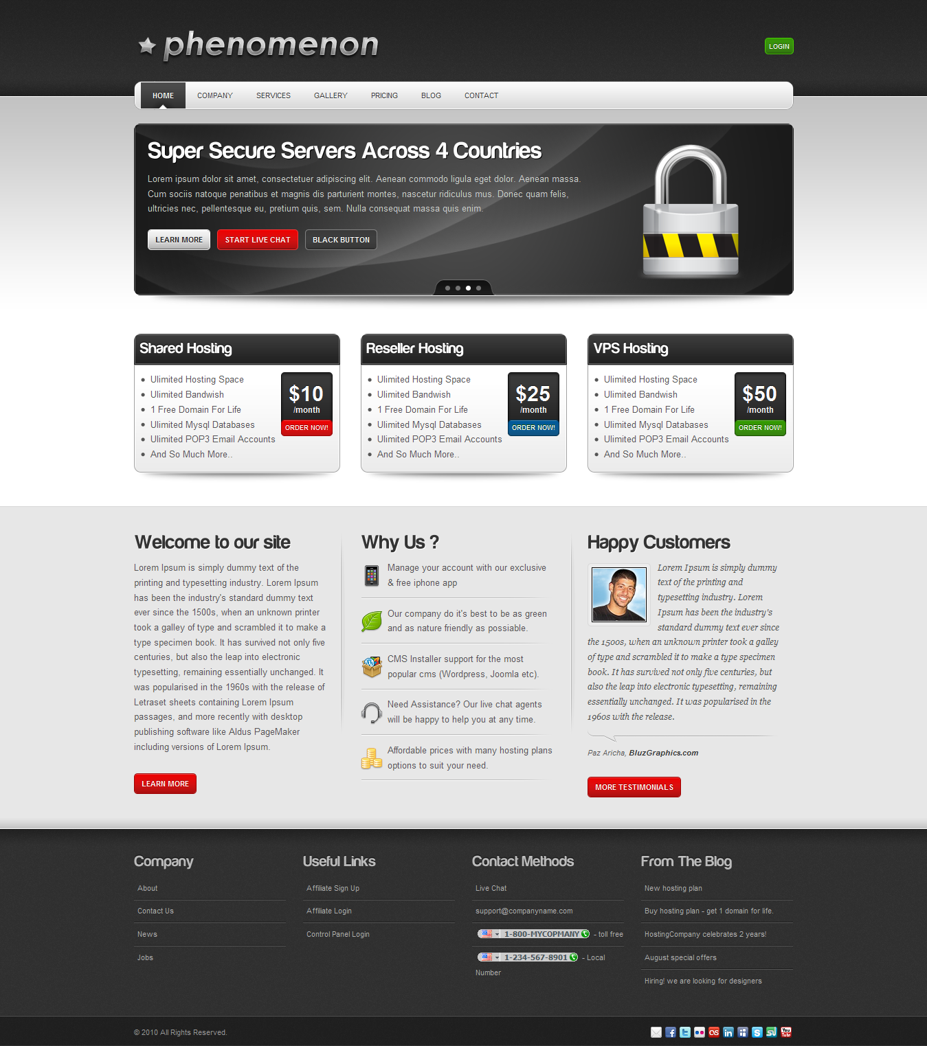 Magnificent Free Hosting Templates Photos - Professional Resume ...