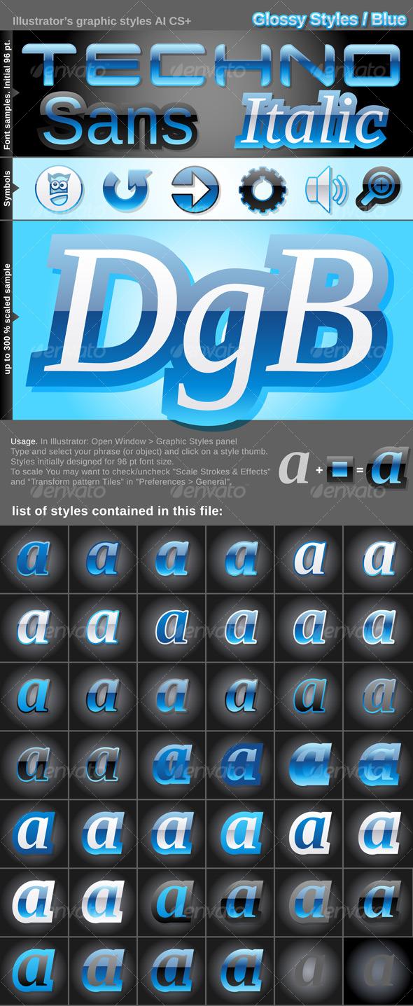 GraphicRiver Illustrator Graphic Styles Glossy 127292