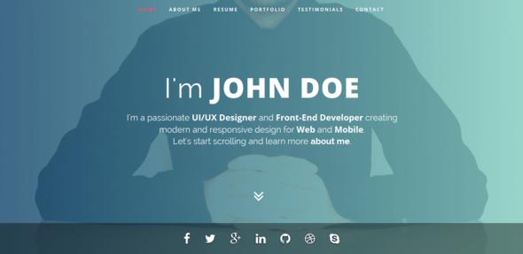 Intima - Resume & Portfolio Wordpress Theme By Bdinfosys | Themeforest