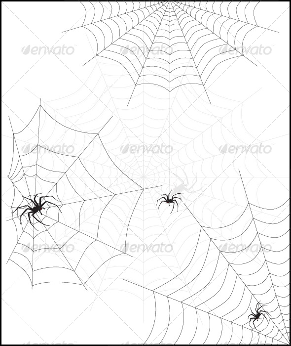 GraphicRiver Spider web & spider 127541