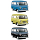 Old-fashioned van set - GraphicRiver Item for Sale