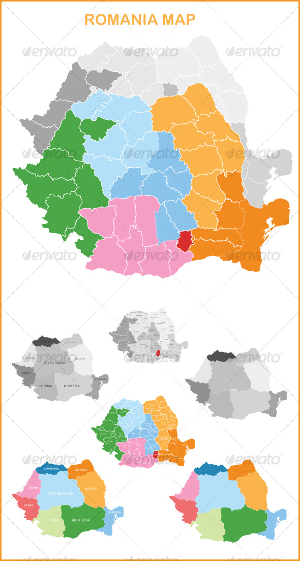 GraphicRiver Vector Romania Map 127713