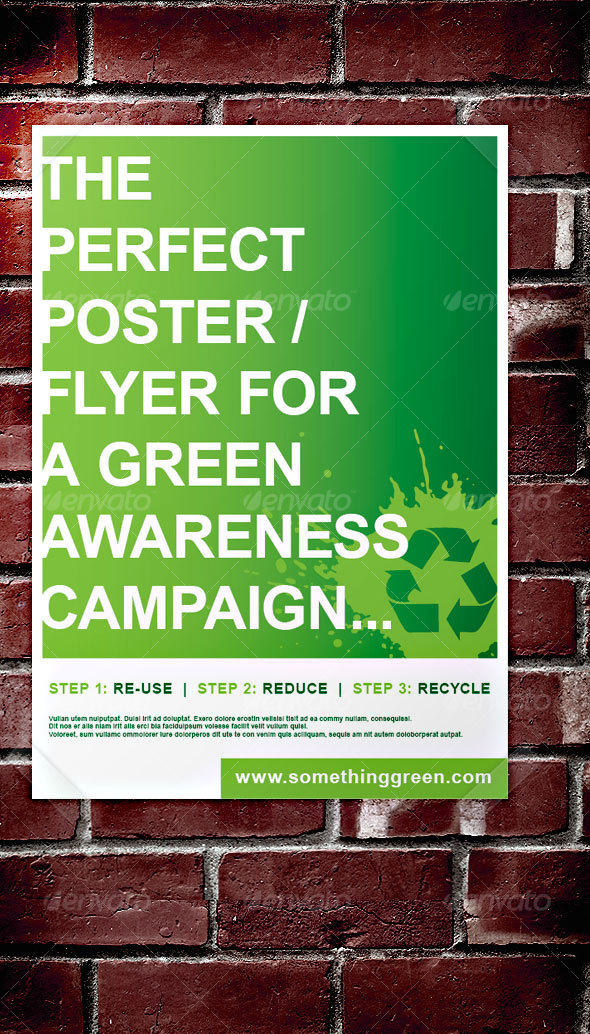 GraphicRiver Green Awareness Campaign Poster Flyer 42222