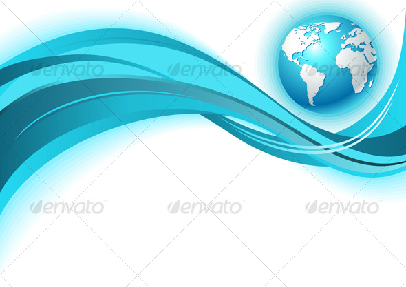 Business world map wave background - Backgrounds Decorative