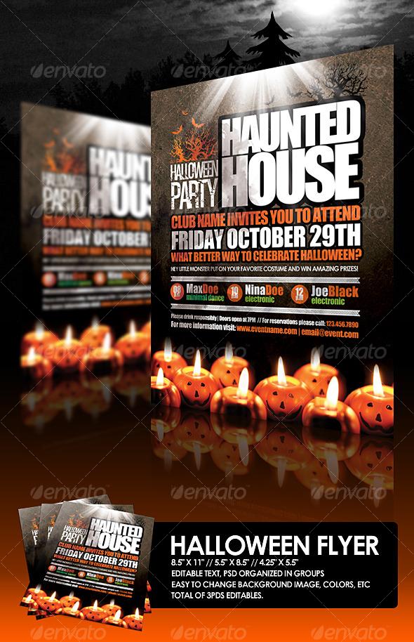 GraphicRiver Halloween Flyer 127760