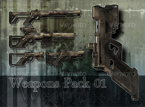 3DOcean Weapon Pack 01 127783