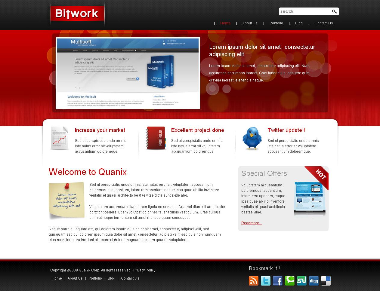 Bitwork - Portfolio and Business WordPress Theme