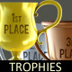 Trophies. Gold, silver and bronze - GraphicRiver Item for Sale