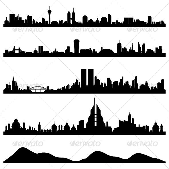 GraphicRiver City Skyline Cityscape Vector 128035